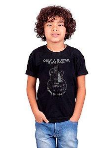 Camiseta Infantil Guitarra Only Preta