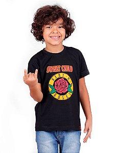 Camiseta Infantil Baby N' Roses Preta
