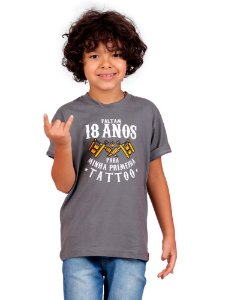 Camiseta Infantil Primeira Tattoo Chumbo