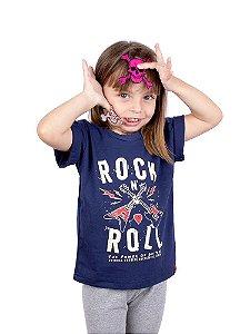 Camiseta Infantil Guitarra Power Marinho