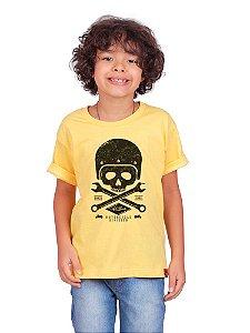 Camiseta Infantil Moto Skull Gema