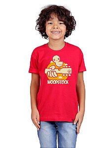 Camiseta Infantil Woodstock Vermelha
