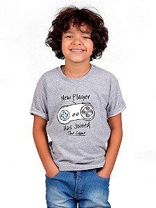 Camiseta Infantil Novo Jogador Mescla