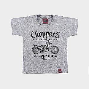 Camiseta Infantil Moto Choppers Soul Mescla