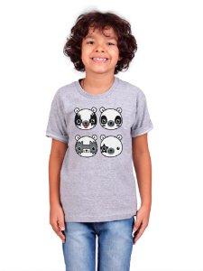 Camiseta Infantil Kiss Bear Mescla