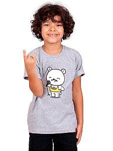 Camiseta Infantil Teddie Mercury Queen Mescla