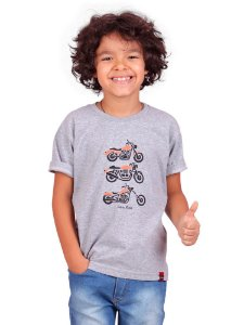 Camiseta Infantil Futuro Motoqueiro Mescla