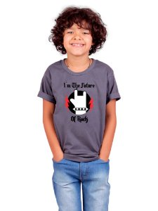 Camiseta Infantil Futuro do Rock Chumbo
