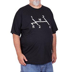Camiseta Plus Size Fusca Marcha Preta.