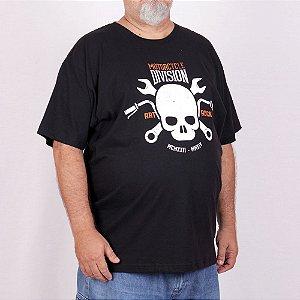 Camiseta Plus size Moto Division Preta.