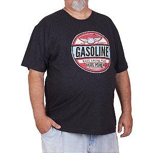 Camiseta Plus Size Gas Pure Preta Jaguar.