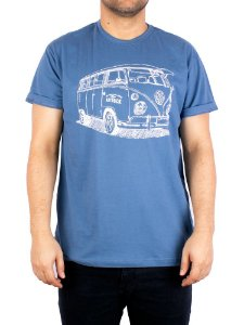 Camiseta Kombi Line Azul Estelar.