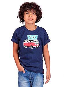 Camiseta Infantil Kombi Kombinha Marinho