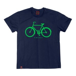 Camiseta Juvenil Bicicleta Co Marinho