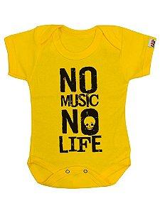 Body Bebê No Music Amarelo