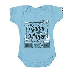 Body Bebê Guitarrista Azul