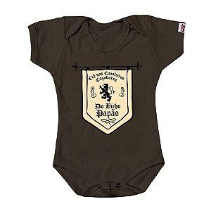 Body Bebê Caçador de Bicho Papão Marrom