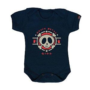 Body Bebê Metal Kids Marinho