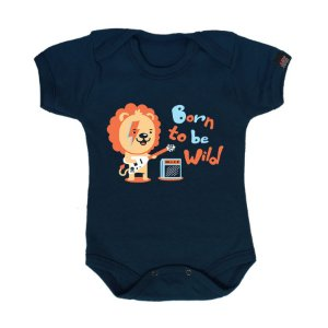 Body Bebê Born To Be Wild Marinho