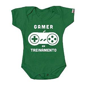 Body Bebê Gamer em Treinamento Verde