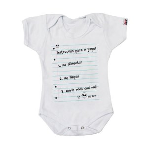 Body Bebê Instruções para Papai Branco
