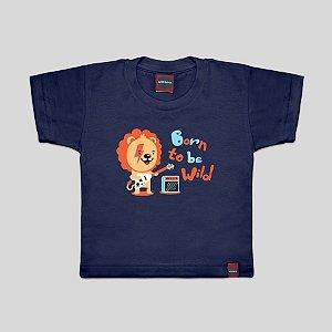Camiseta Infantil Born To Be Marinho