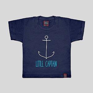 Camiseta Infantil Pequeno Capitão Azul Marinho