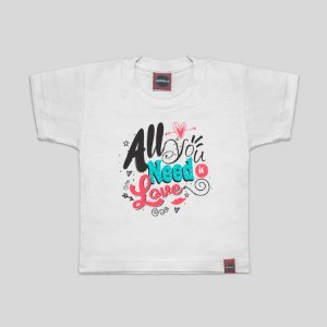 Camiseta Infantil All You Need Branca