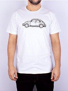 Camiseta Fusca Line Branca.