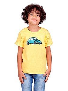 Camiseta Infantil Fusca Amarela