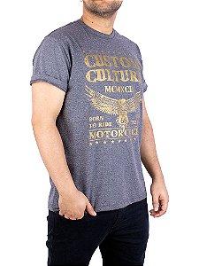 Camiseta Moto Custom Culture Grafite.
