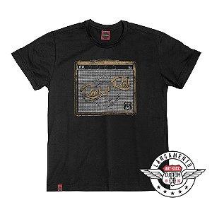 Camiseta Plus Size Rock Amplificador Preta.