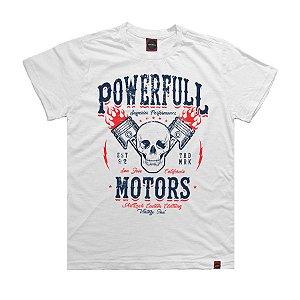 Camiseta Juvenil Powerfull Motor Branca.