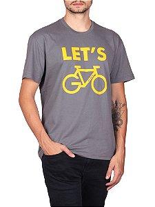 Camiseta Let's Go Cinza.