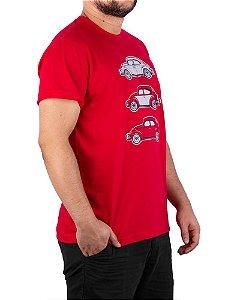 Camiseta Fusca Tri Vermelha.