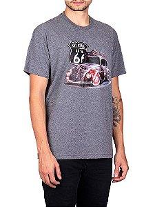 Camiseta Fusca US66 Grafite.