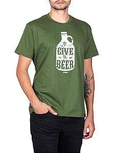 Camiseta Give Cerveja Verde.