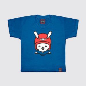 Camiseta Infantil Rider Rabbit Azul Royal