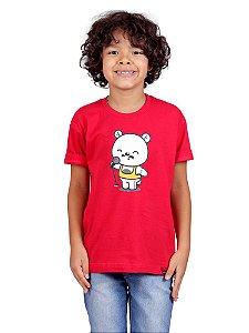 Camiseta Infantil Teddie Mercury Queen Vermelha