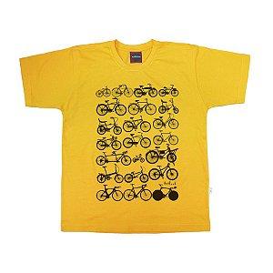 Camiseta Juvenil Bicicletas Amarela.