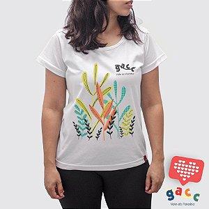 Camiseta Feminina Gacc  Jardim Branca