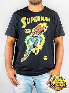 Camiseta DC Superman Retrô Preta