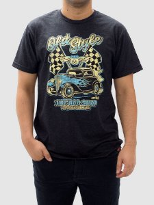 Camiseta Hot Rod Shop Preta Jaguar.