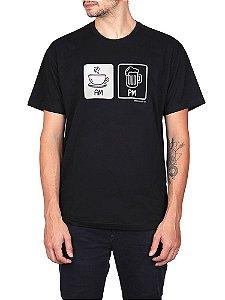 Camiseta Cerveja AM PM Preta.