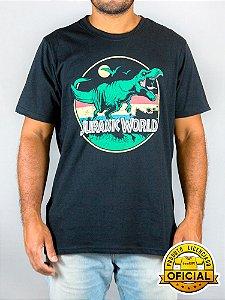 Camiseta Jurassic World Retrô Preta