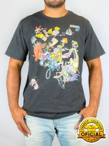 Camiseta Cartoon Network Personagens Grafite Mescla