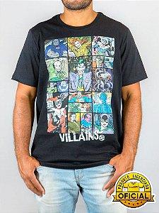 Camiseta DC Comics Vilões Preta
