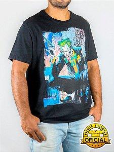 Camiseta DC Coringa Sinistro Preta
