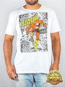 Camiseta DC Flash Retrô Branca