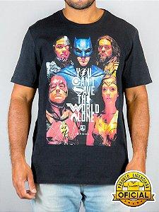 Camiseta DC Liga da Justiça Preta